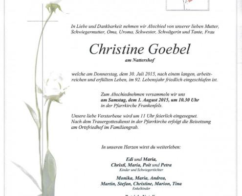 Christine Goebel