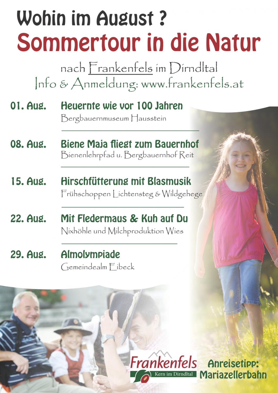 Sommertour Frankenfels Plakat