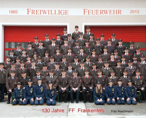 Gruppfenfoto Feuerwehr
