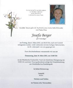 Josefa Berger