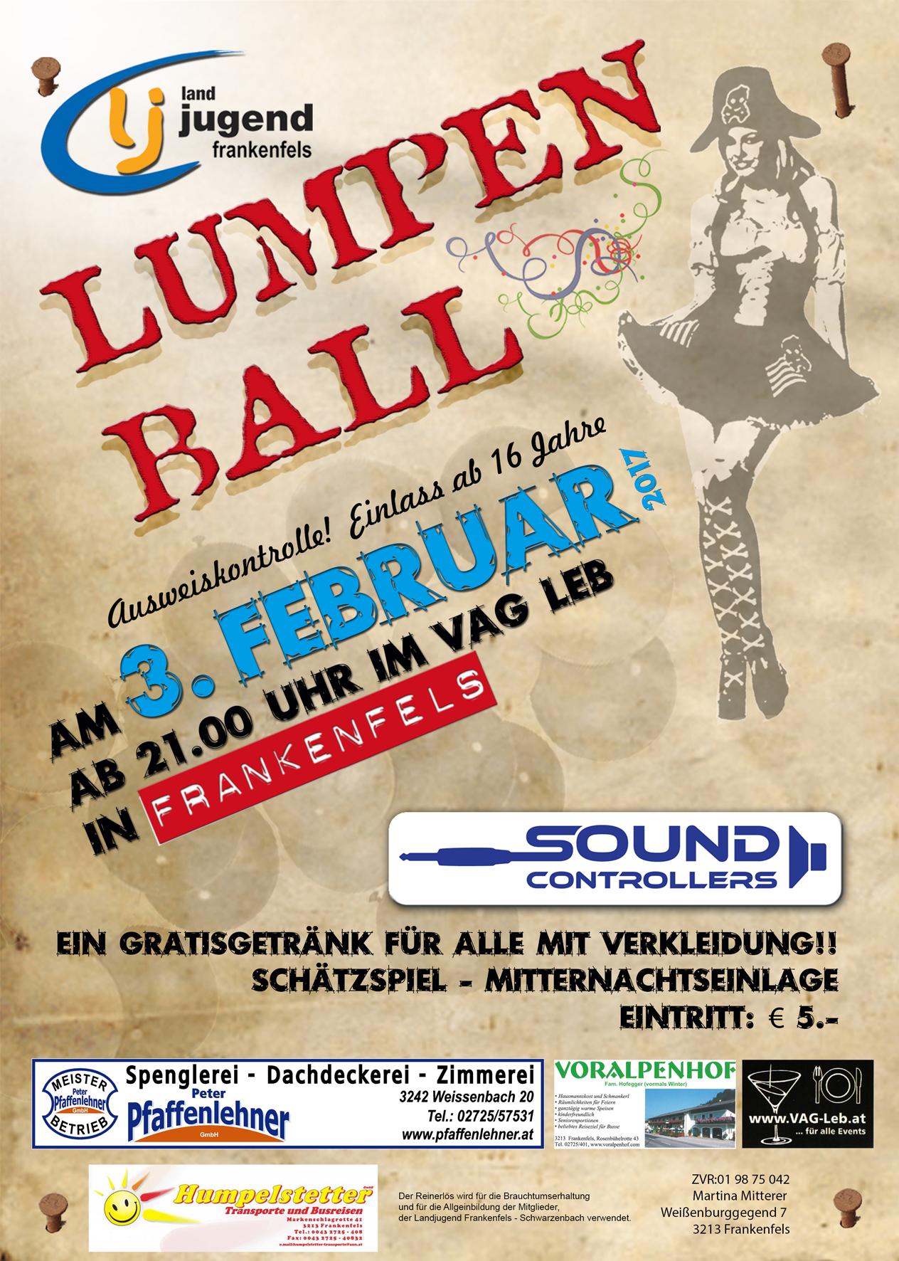 Lumpenball Flyer A6 2017 FA vORNE FERTIG