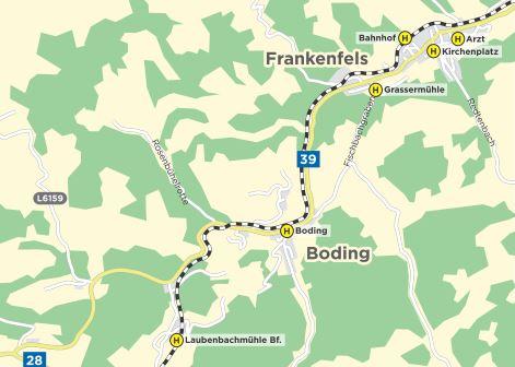 AST Routenplan Frankenfels Scheibbs