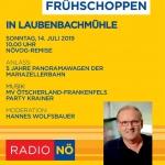 Radio Niederösterreich Frühschoppen Laubenbachmühle Flyer