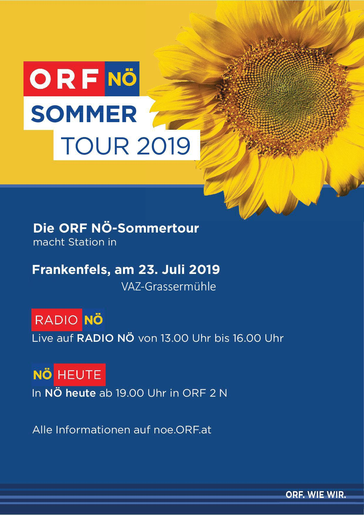 ORF-NÖ Sommertour 2019 Flyer