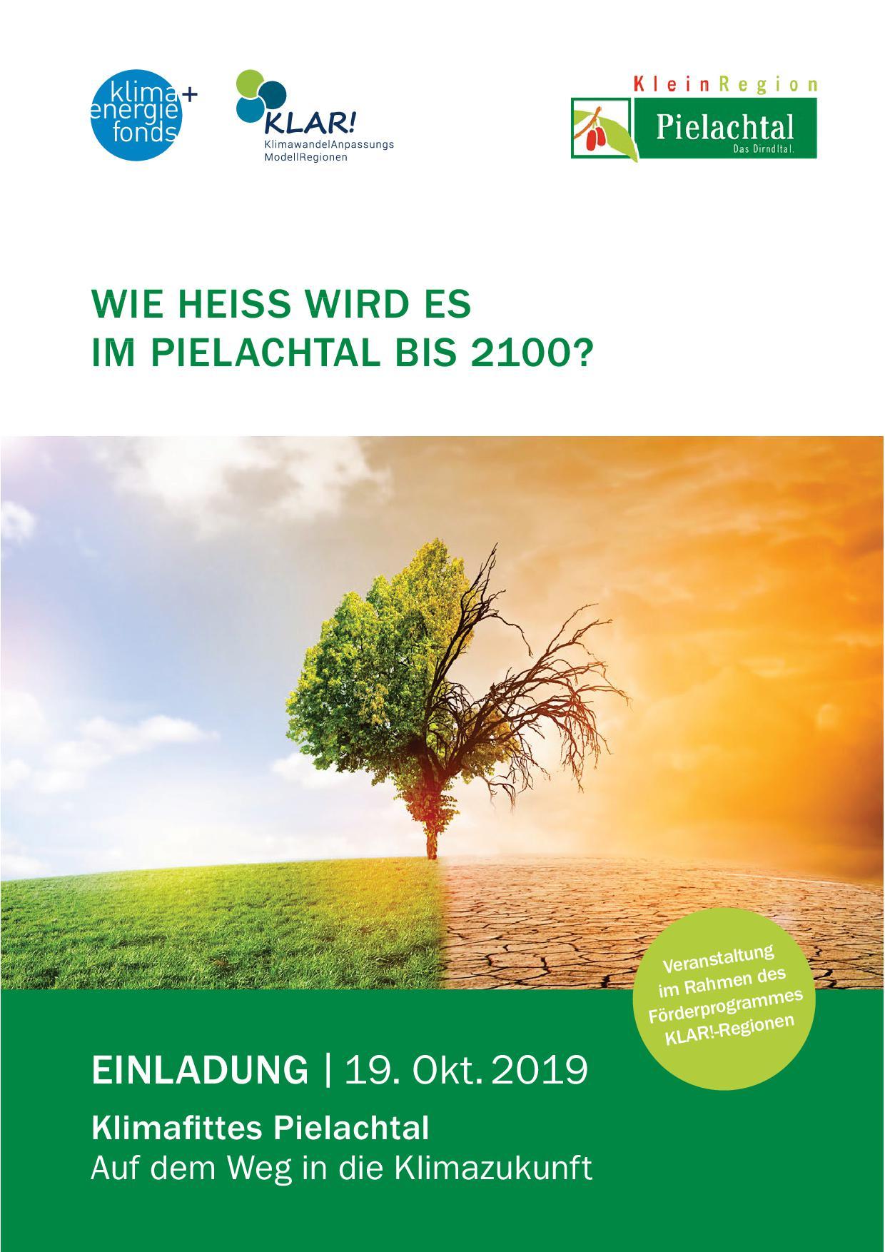 Plakat: Einladung Klimatfittes Pielachtal