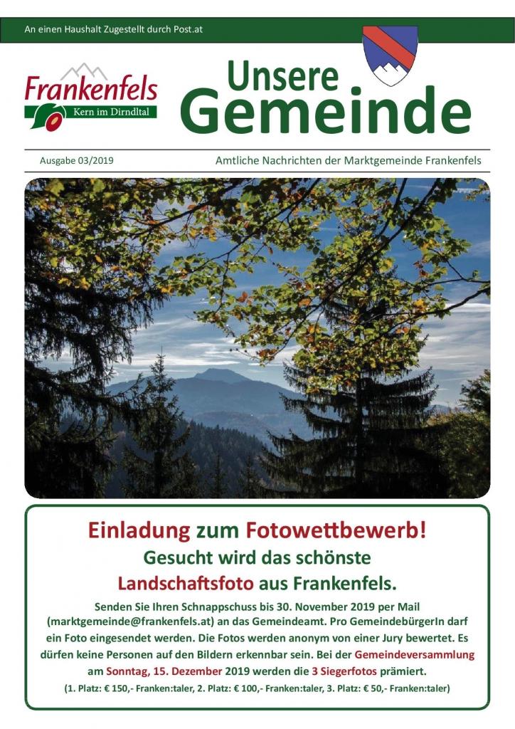 Fotowettbewerb Landschaftsfoto Frankenfels