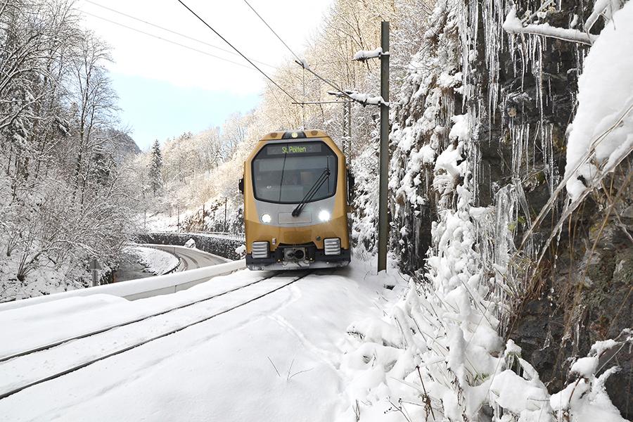 Mariazellerbahn im Winter