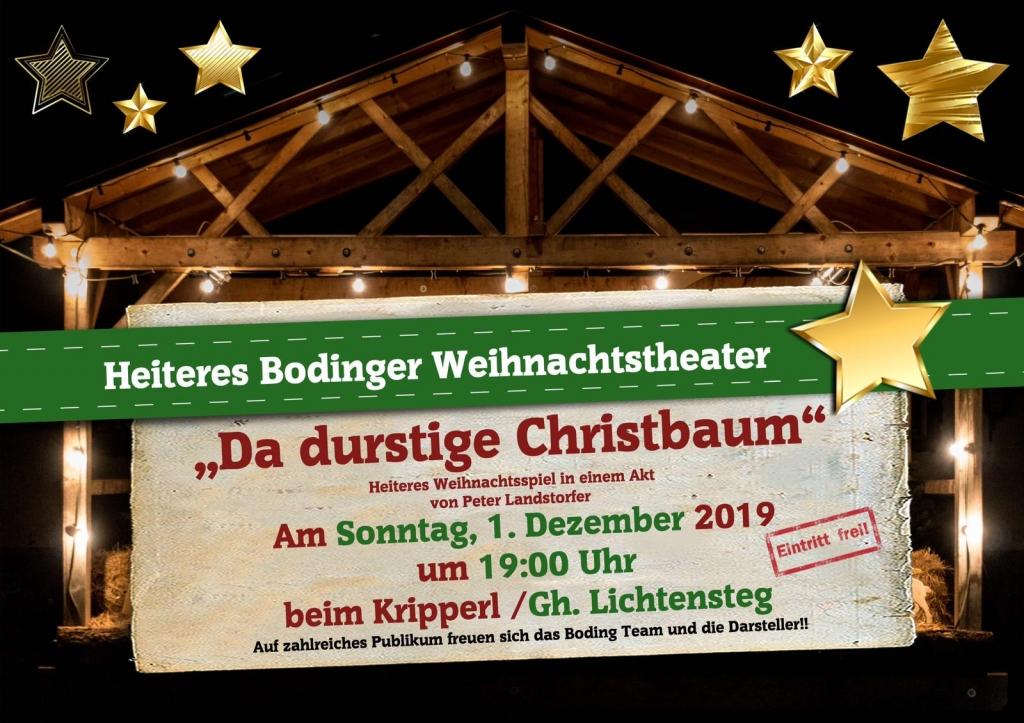 Bodinger Weihnachtstheater Einladung