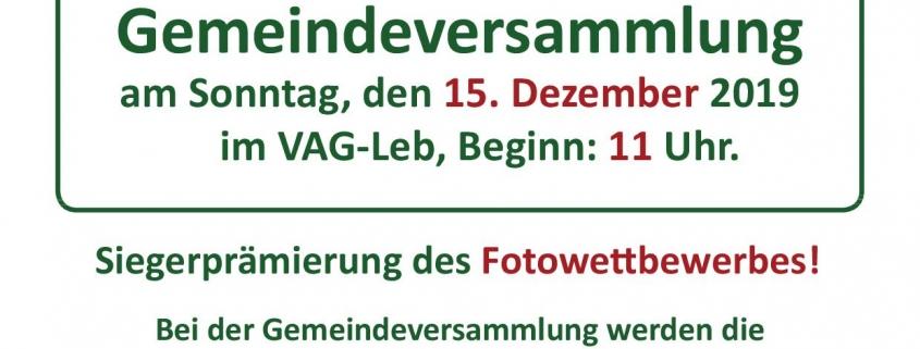 Gemeindeversammlung 2019 Flyer