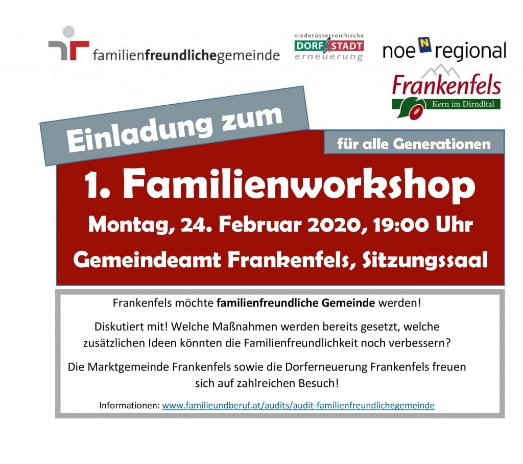 Einladung Familienworkshop
