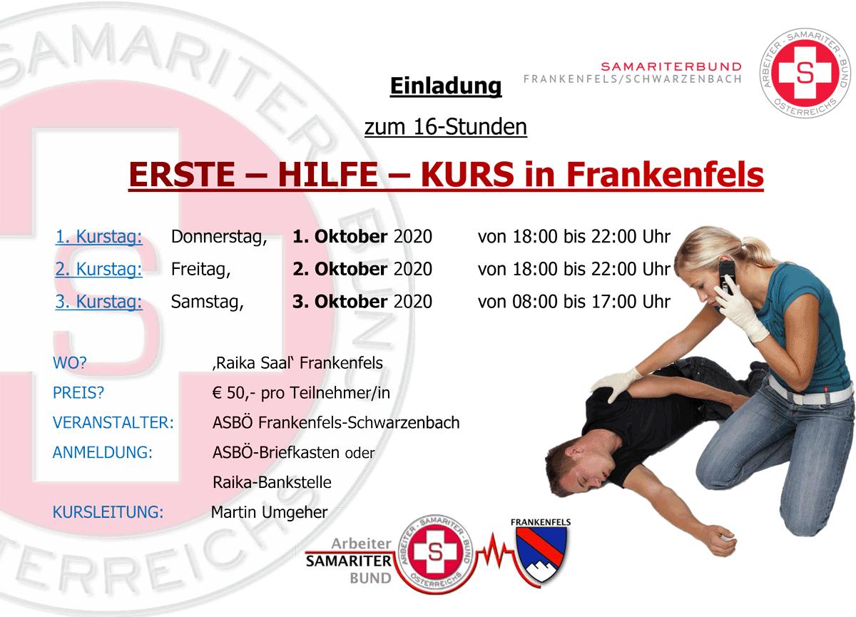 EHK Plakat 2020 ASBÖ Frankenfels